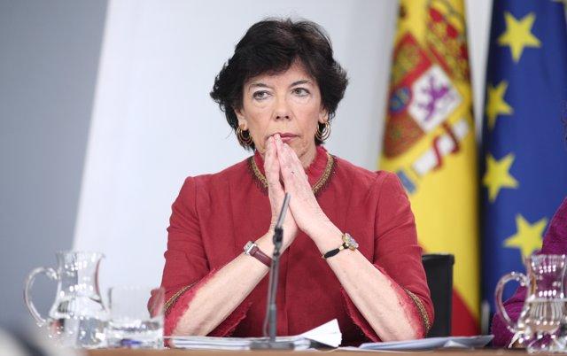 La ministra de Educación y Formación Profesional, Isabel Celaá, en Madrid (España), a 3 de marzo de 2020.