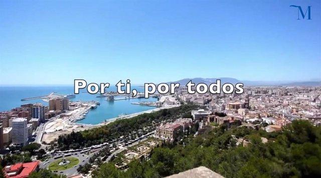 Fotograma del vídeo elaborado por la Diputación dentro de la campaña 'Quédate en casa' contra el COVID-19