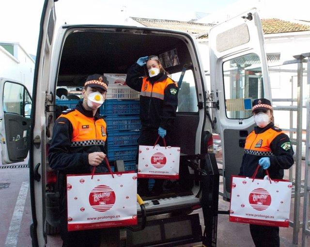 Málaga.-Coronavirus.-Una empresa dona 3.000 kilos de productos cárnicos a entida