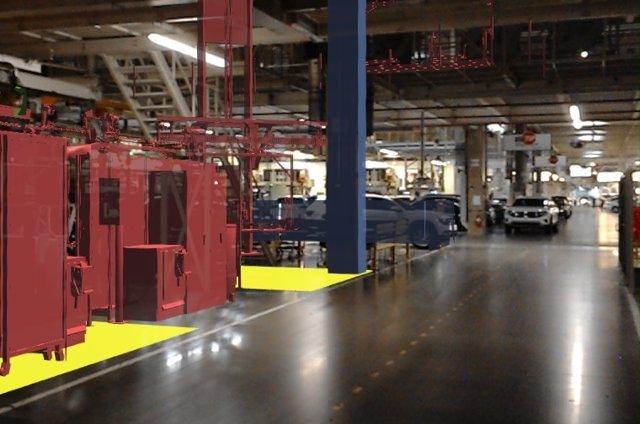 Imagen de una planta de Volkswagen.