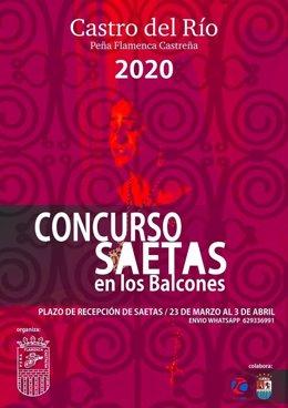 Cartel del concurso 'Saetas en los Balcones'