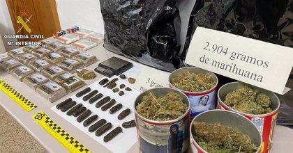 La Guardia Civil detiene a un hombre por tráfico de drogas en un control por el estado de alarma