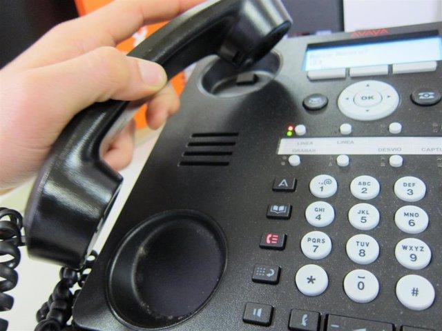 Recurso teléfono fijo, llamada
