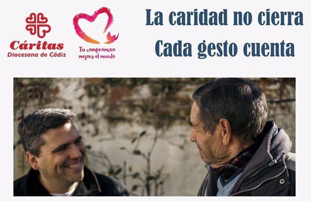 Campaña de Cáritas Diocesa en Cádiz 'La caridad no se cierra. Cada gesto cuenta'