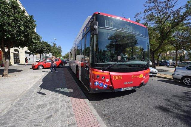 Autobús de la Línea Norte de Tussam