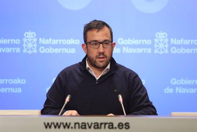 El vicepresidente del Gobierno de Navarra, Javier Remírez