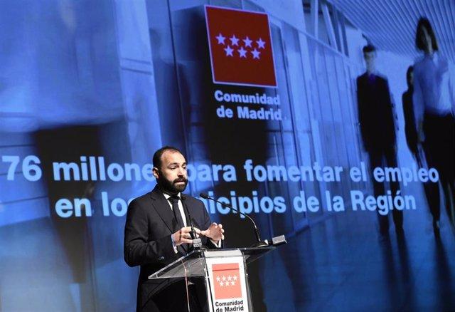 Imagen de recurso del consejero de Economía, Empleo y Competitividad, Manuel Giménez.