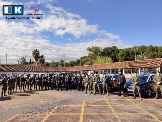 Militares en Hellín contra el coronavirus