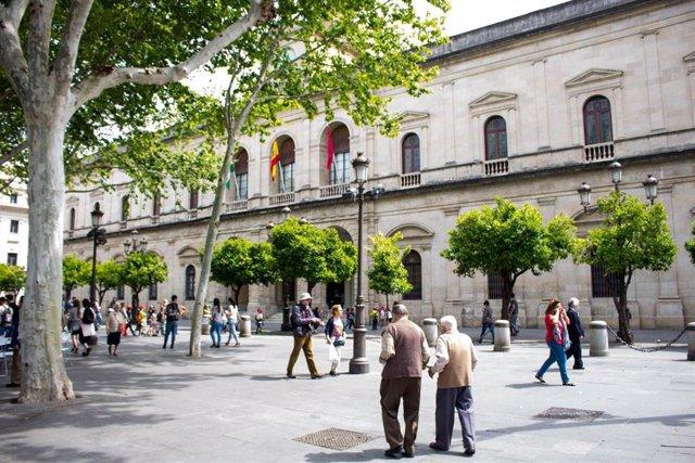 Fachada del Ayuntamiento de Sevilla, en una imagen de archivo