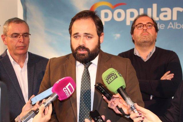 Paco Núñez en el Comité de Dirección del PP de Albacete.