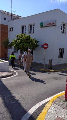 Infantes de Marina en Los Barrios patrullando por el coronavirus