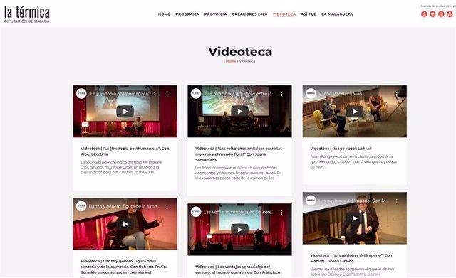 Videoteca a disposición de la ciudadanía en la página web de La Térmica
