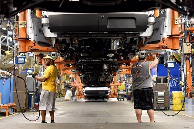 Imagen de una fábrica de Ford.