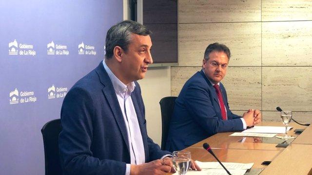 Rueda de prensa del Gobierno de La Rioja para explicar los datos del coronavirus