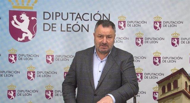 El Presidente De La Diputación De León, Eduardo Morán, En Una Captura Del Vídeo Emitido Este Jueves A Los Medios De Comunicación.