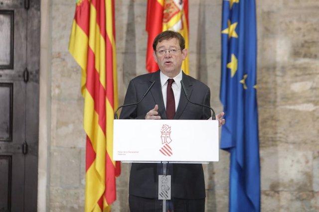 Comparecencia de Ximo Puig en el Palau de la Generalitat