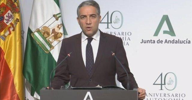 El portavoz del Gobienro andaluz, Elías Bendodo.