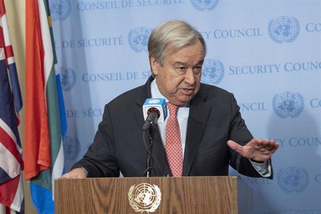 António Guterres, secretario general de Naciones Unidas