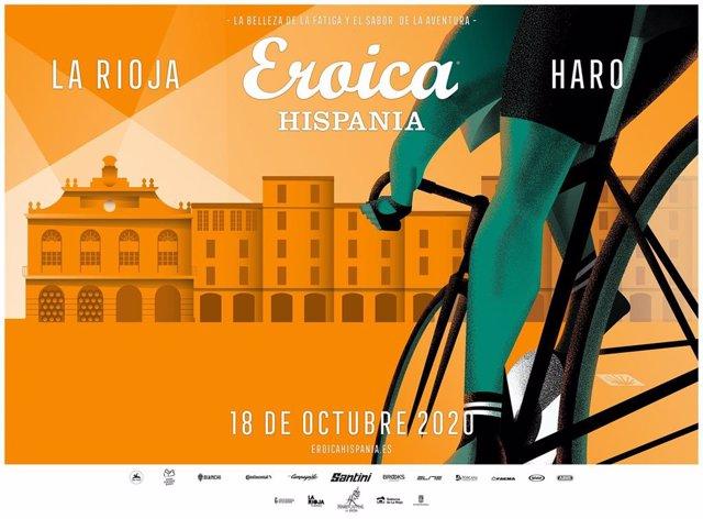 Cartel de la VI edición de la marcha de bicicletas de época Eroica Hispania