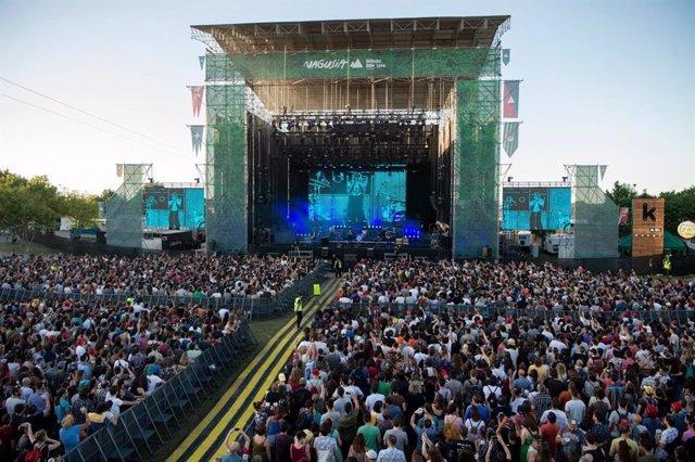 Imagen del festival Bilbao BBK Live durante uno de sus conciertos