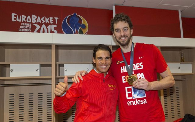 Pau Gasol Y Rafa Nadal, Final Eurobasket 2015