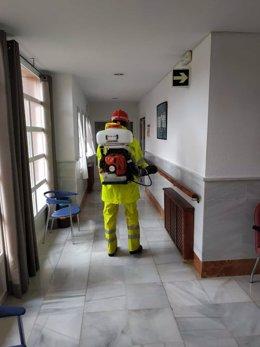 Labores de desinfección de la Diputación de Sevilla