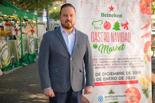 El concejal de Fiestas del Ayuntamiento de Santa Cruz de Tenerife, Andrés Casanova
