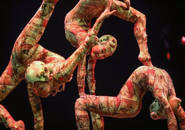 Ensayo general de 'Kooza'  de Cirque du Soleil en Sevilla, a 15 de enero de 2020.