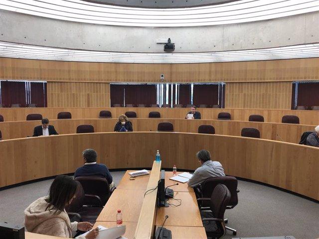 Equipo de gobierno de la Diputación, reunido al inicio de la crisis del coronavirus