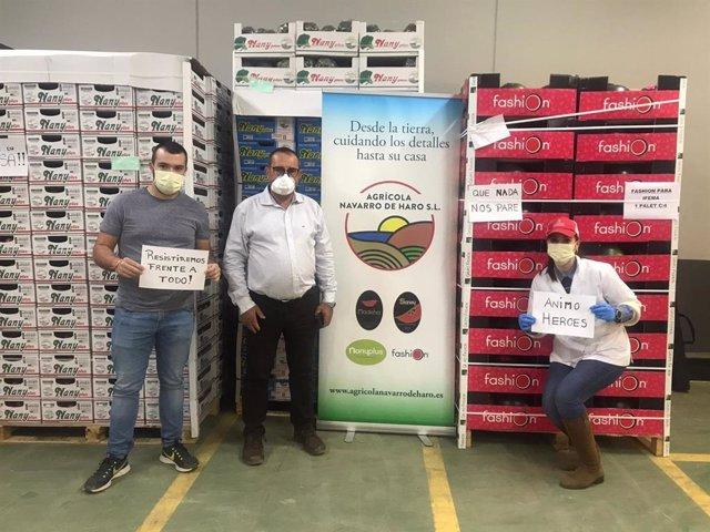 Donación de frutas y hortalizas para el personal de Ifema