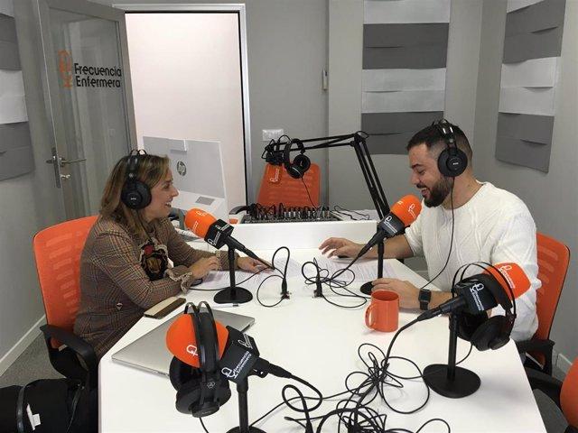 Pedro Soriano, presidente de FFPaciente, y Celia Marín, invitada del episodio 0 del Podcast