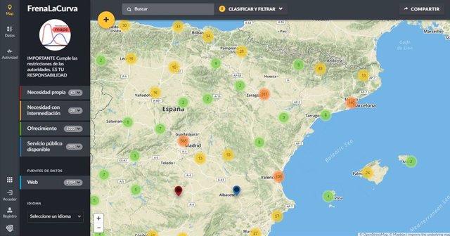 Imagen del mapa de geolocalización de Aragón Gobierno Abierto.