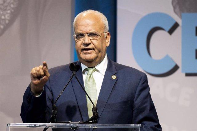 El secretario general de la Organización para la Liberación de Palestina (OLP), Saeb Erekat