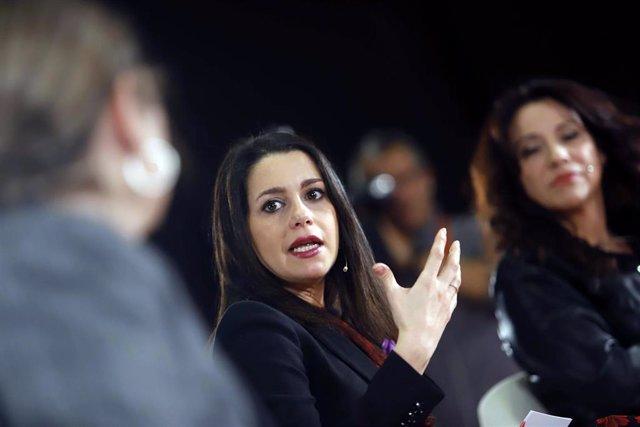 La presidenta de Ciudadanos y portavoz en el Congreso, Inés Arrimadas.
