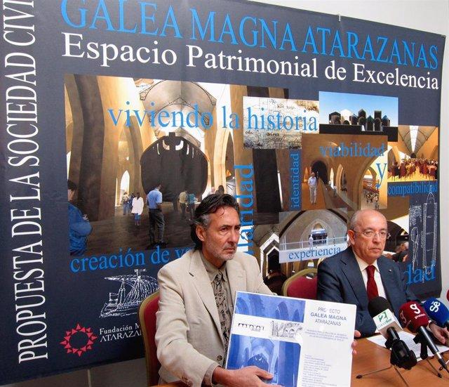 Manuel del Valle (derecha), en su etapa como presidente de la Fundación Atarazanas de Sevilla