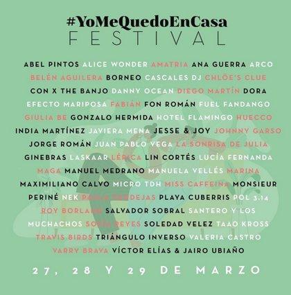 #YoMeQuedoEnCasa Festival: Horarios de los conciertos en streaming del 27 al 29 de marzo