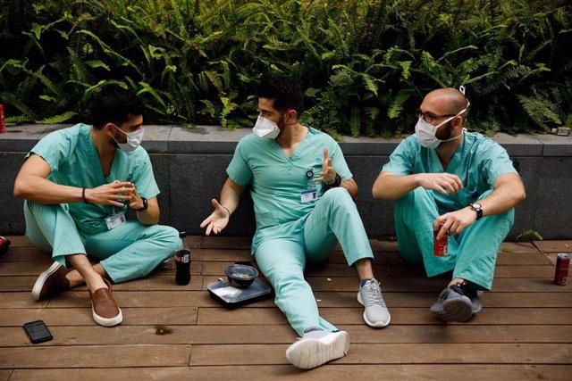 Personal médico de un hospital de Tel Aviv, Israel.