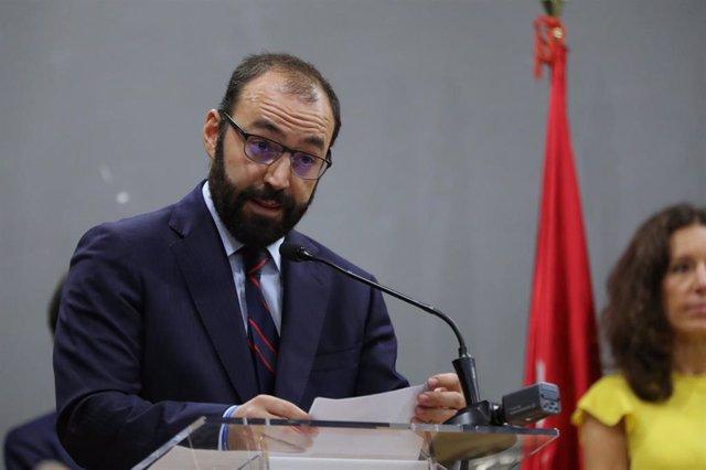 El consejero de Economía, Competitividad y Empleo de la Comunidad de Madrid, Manuel Giménez