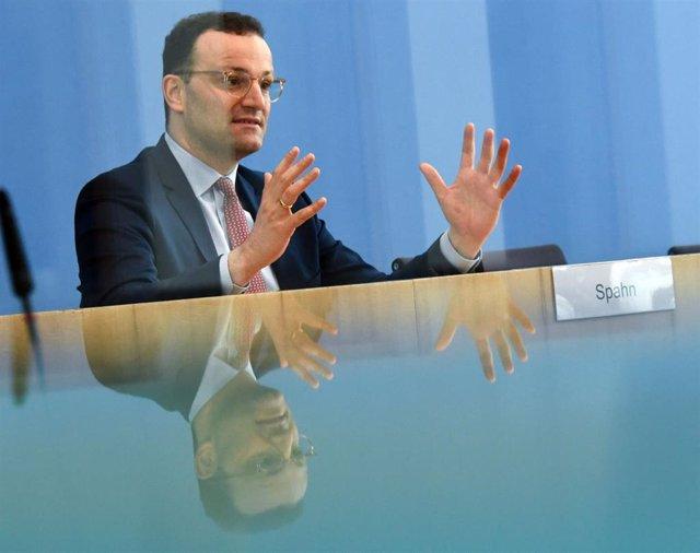El ministro de Sanidad de Alemania, Jens Spahn, en una rueda de prensa en Berlín