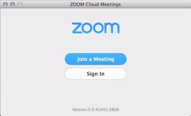 Aplicación de videoconferencias Zoom.