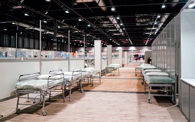 Imagen de camas instaladas en el hospital provisional de Ifema ante la pandemia del coronavirus.