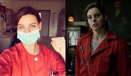 Una actriz de La Casa de Papel lucha como enfermera contra el coronavirus