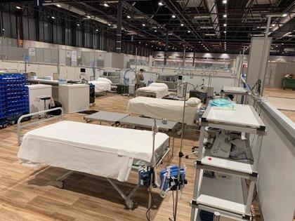 Unidades médicas del Ejército del Aire despliegan la primera sala UCI del hospital de Ifema