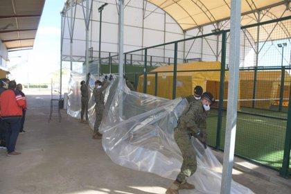 Militares de la Brigada 'Extremadura' XI realizan tareas de desinfección en residencias de mayores de Jaraíz y Talayuela