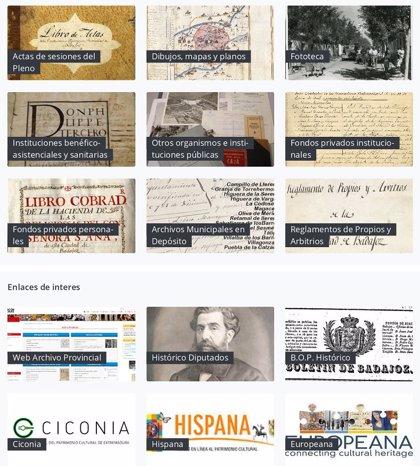 El Archivo Provincial de Badajoz pone a disposición de los ciudadanos sus fondos documentales en un portal digital