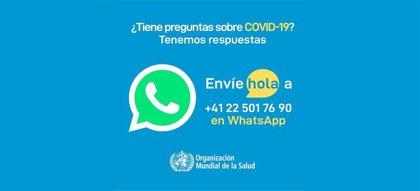 La OMS lanza la versión en español de un servicio de Whatsapp y Facebook de información del Covid-19