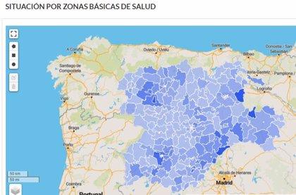 Zonas de Salud de La Bañeza I, Belorado, Covaleda, Sierra de Segovia, presentan mayores tasas de afección
