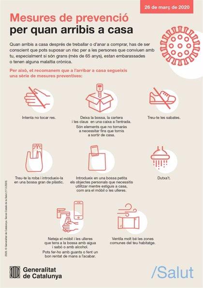 Salud amplía las medidas de prevención al llegar a casa tras comprar o trabajar