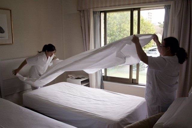 Imagen de archivo de camareras de piso.