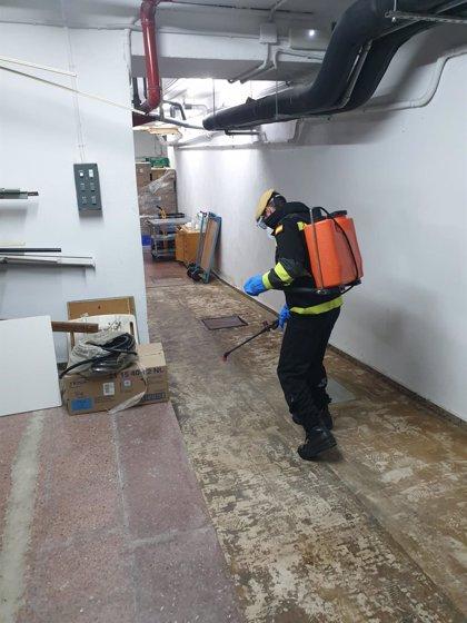 La UME continúa este sábado con las labores de desinfección de edificios de toda Navarra